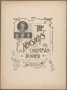 """The Newsboys' Christmas Dinner"""