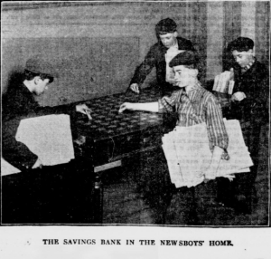 The Savings Bank in the Newsboys' Home.